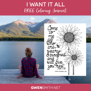 I Want It All Free Coloring Journal