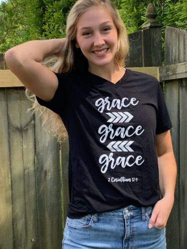 Kennedy Smith in a GRACE Tee